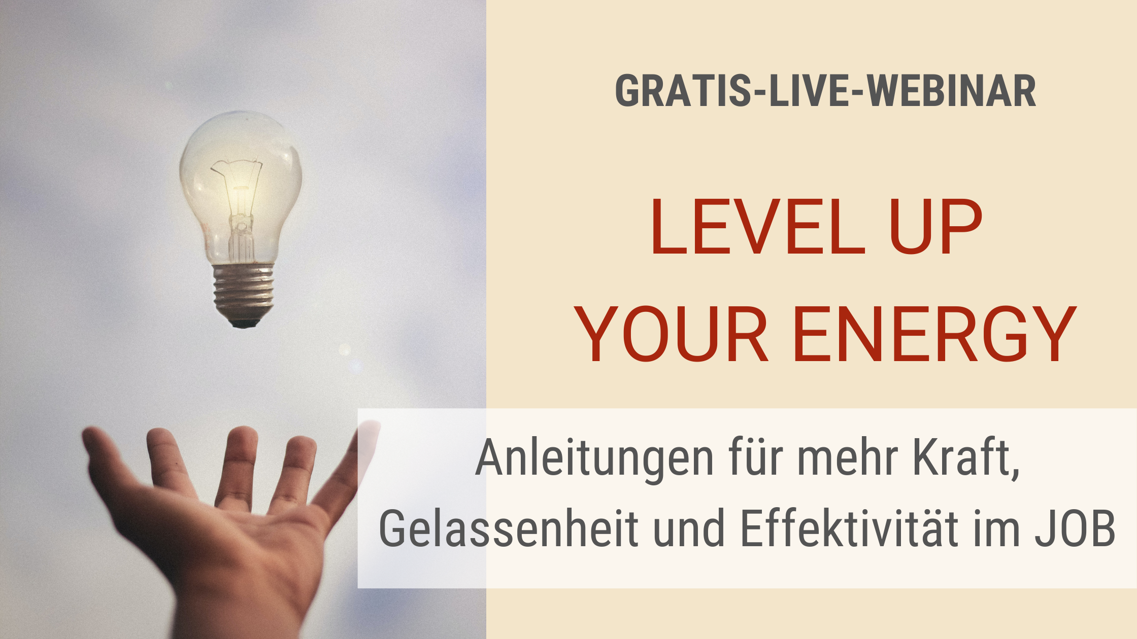 gratis live webinar level up your energy