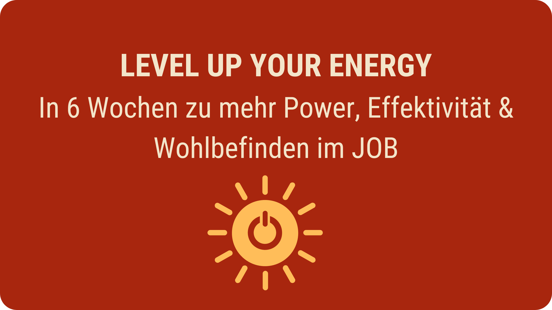 level up your energy